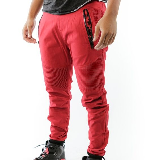 PREMIUM FEELGOOD JOGGERS – RED / BLACK (BRED)