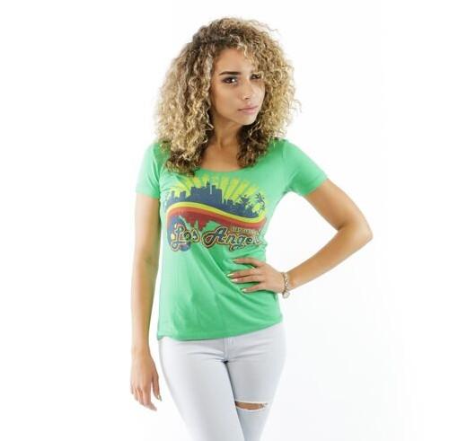 FEELGOOD THREADS – WOMENS – STAY CLASSY LA IN KELLY GREEN