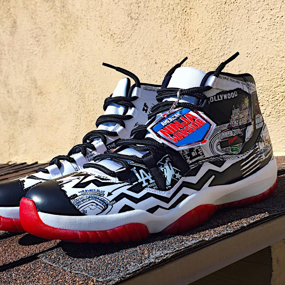 "Check Out the ""American Ninja Warrior"" Jordan 11s for Host Akbar Gbajabiamila!!!"