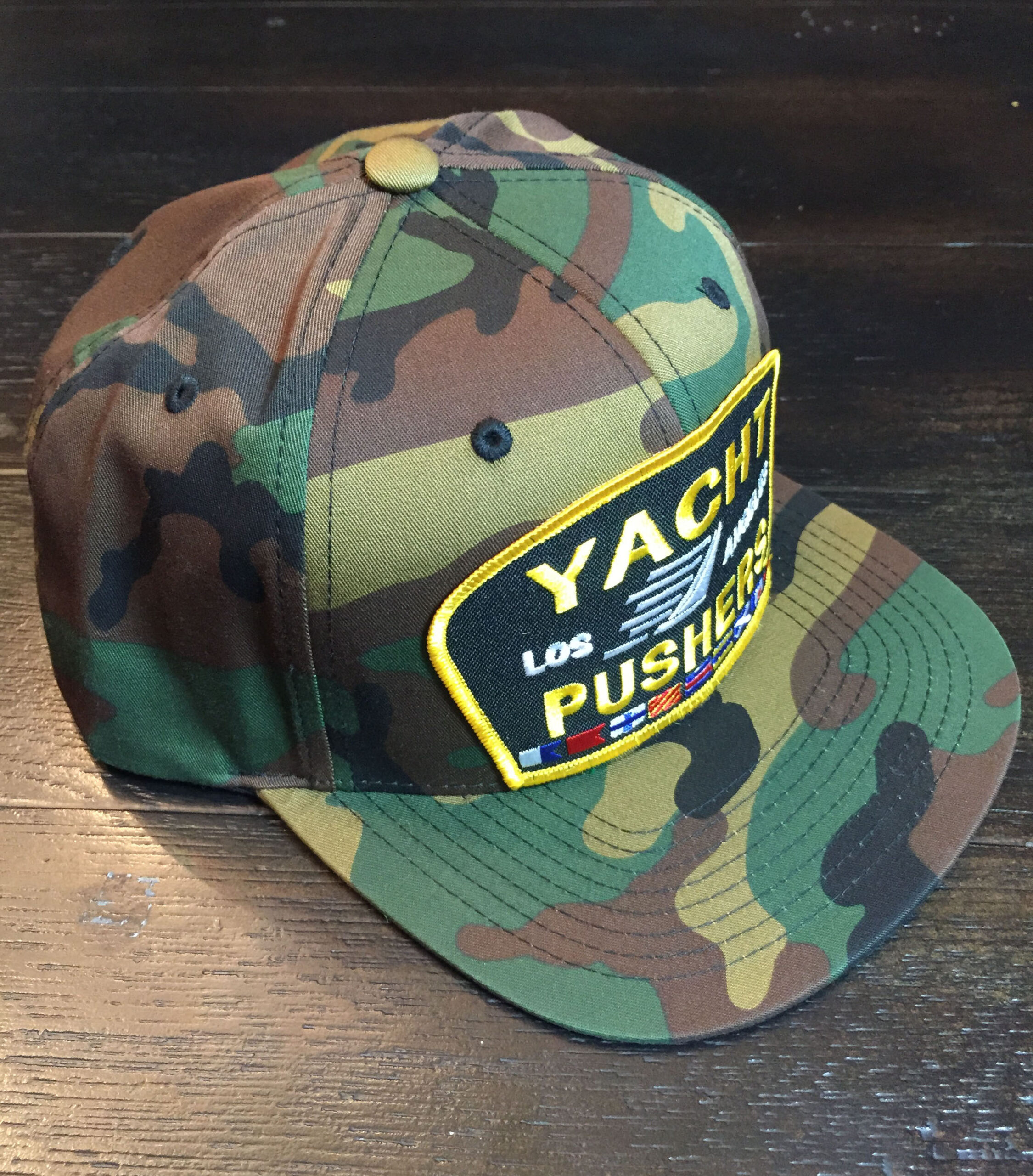 """The """"Yacht Pushers"""" Nautical Snapback Hat in Camo"""