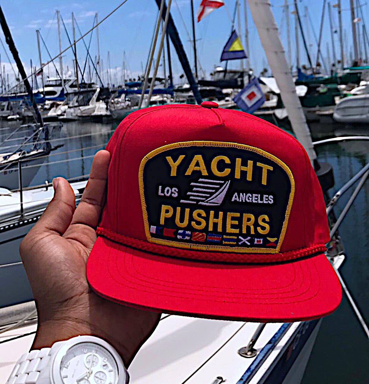 "The ""Yacht Pushers"" Nautical Snapback Hat"