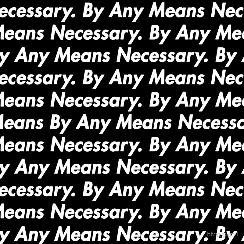 """By Any Means Necessary"" Stencil Set"