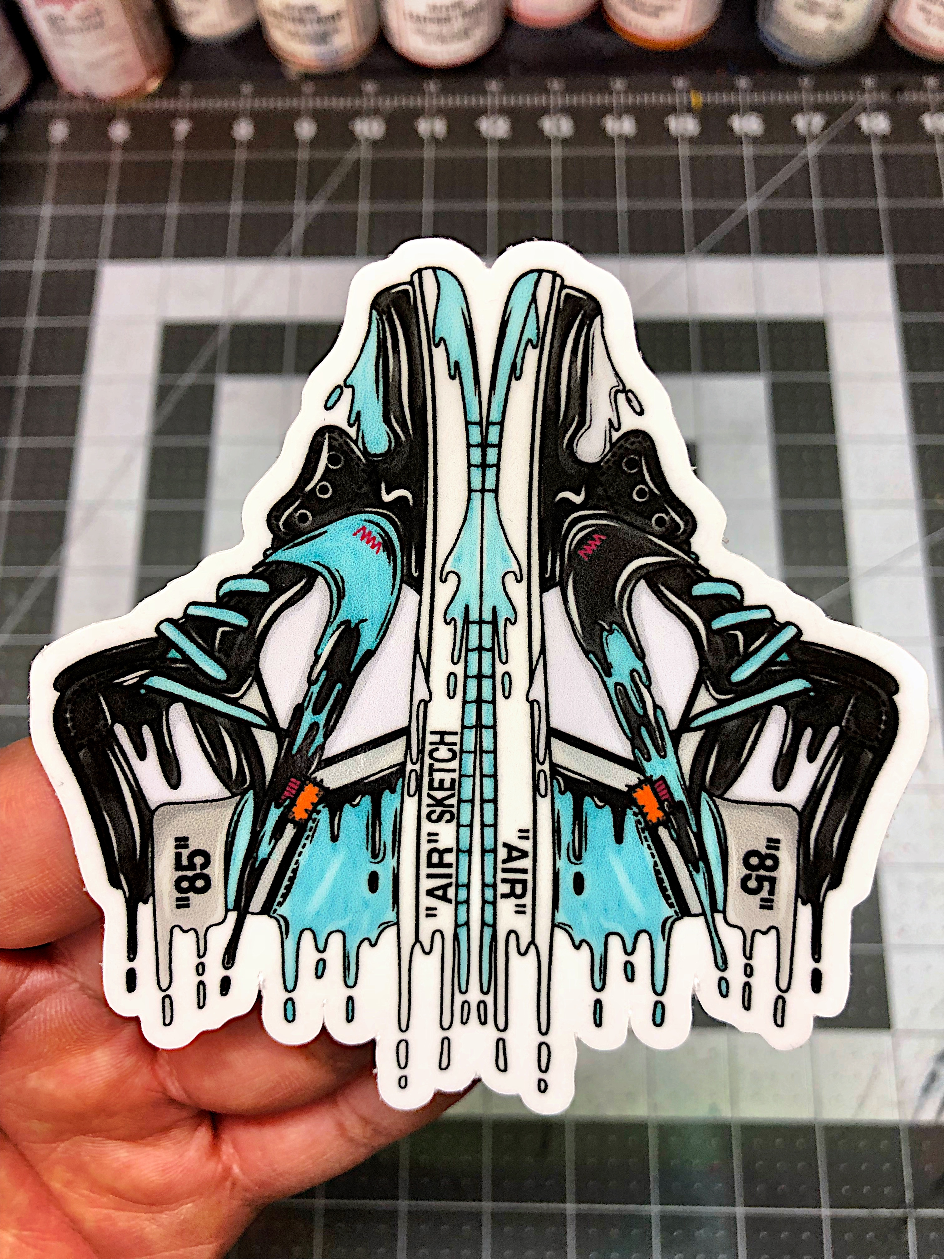 Feelgood Custom Die Cut Kicks Stickers