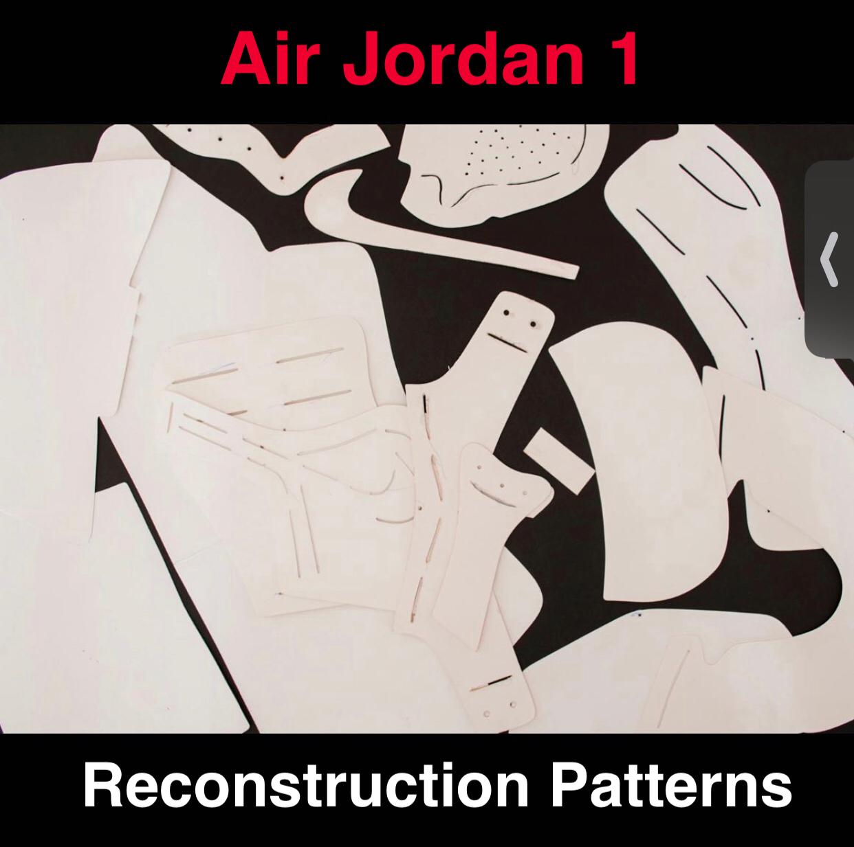 Jordan 1 Paper Patterns to Reconstruct Shoes