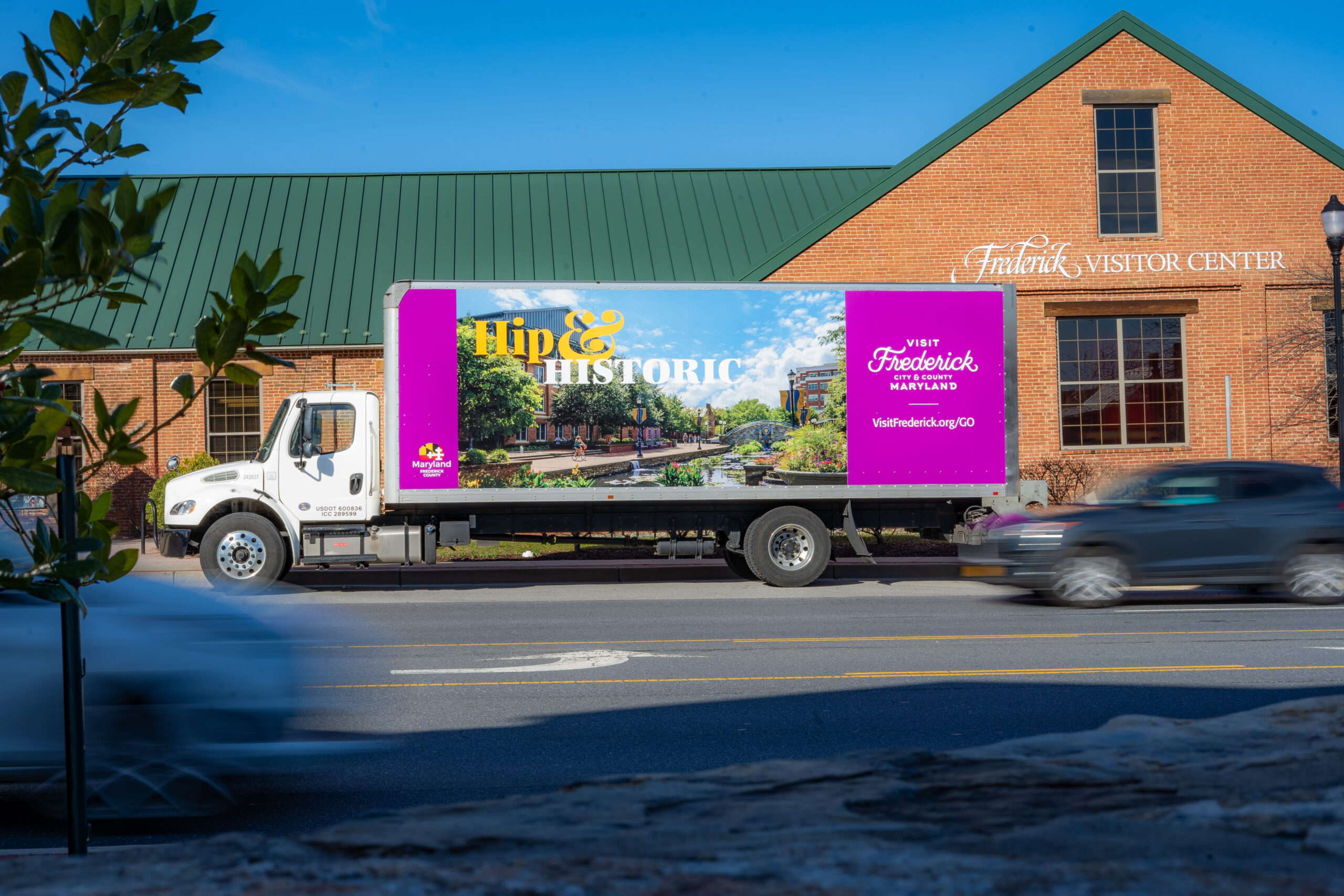 Visit Frederick truck in front of Frederick Visitor Center