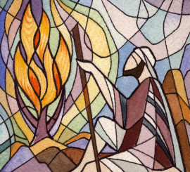 stained glass Christmas Advent