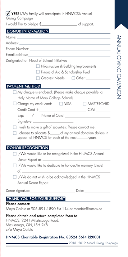 Annual Giving Form