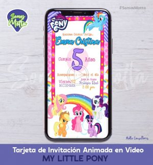 TARJETA DE INVITACIÓN DIGITAL ANIMADA MY LITTLE PONY