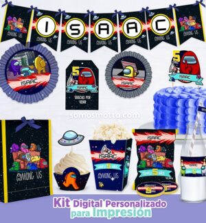 KIT IMPRIMIBLE DE FIESTA AMONG US IMPOSTOR