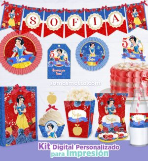 KIT IMPRIMIBLE DE FIESTA BLANCA NIEVES