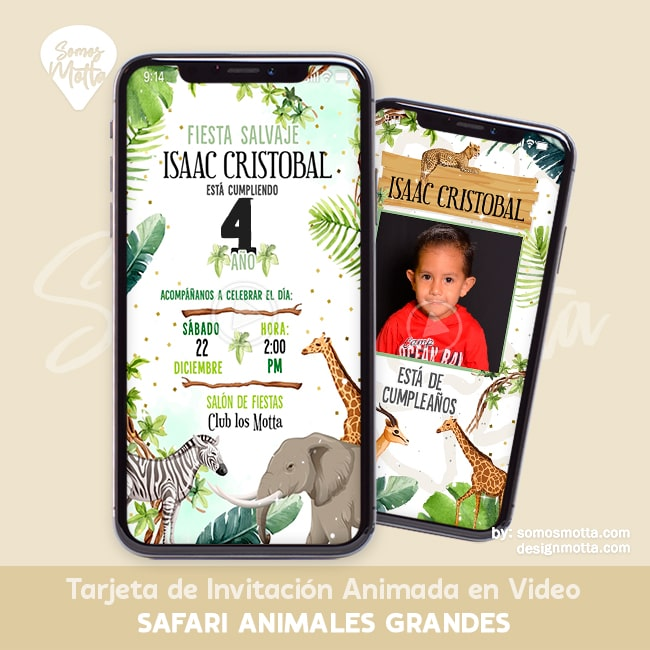 INVITACIÓN DIGITAL ANIMALES DE LA SELVA