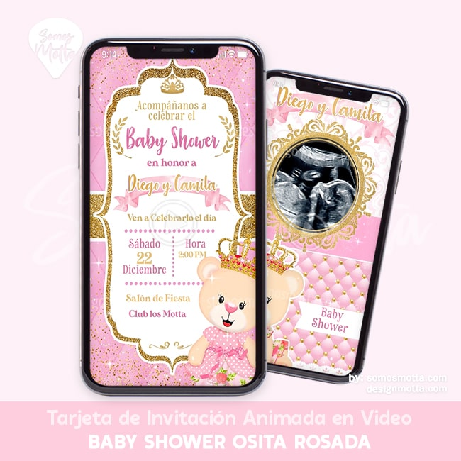 INVITACIÓN DIGITAL BABY SHOWER OSITA