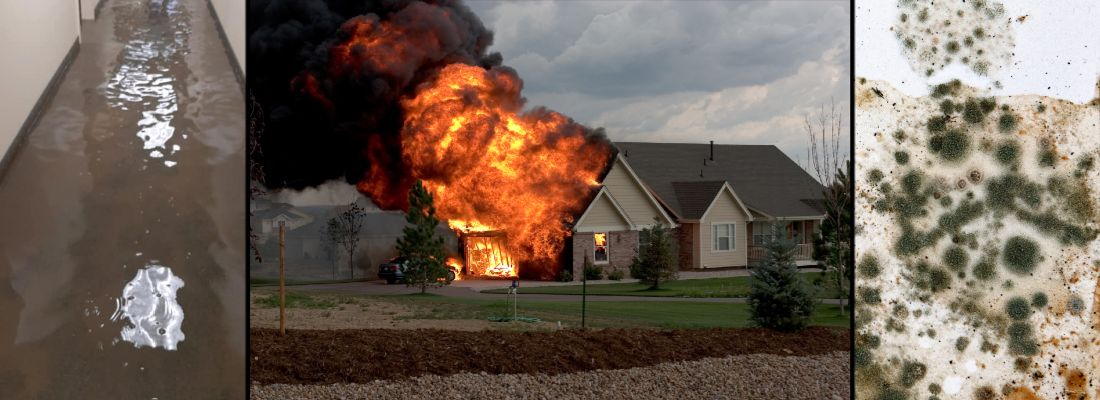 flood cleanup, fire and smoke damage restoration, and mold removal