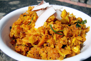 cabbage and carrot curry