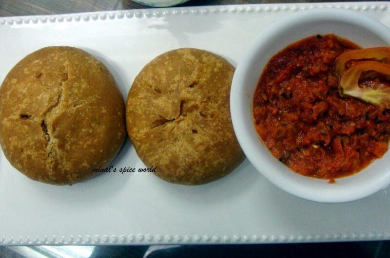Matar kachori- An Indian Stuffed Bread