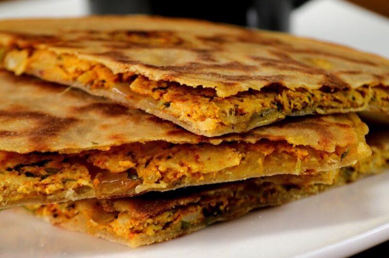Veg keema paratha -An Indian Bread