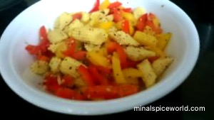 Bellpepper and Baby corn salad