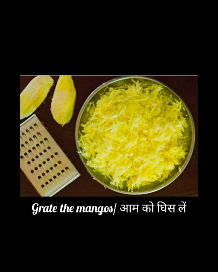 shredded mango