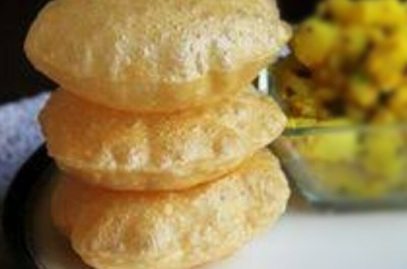 How to make puri/ Indian fried flat bread