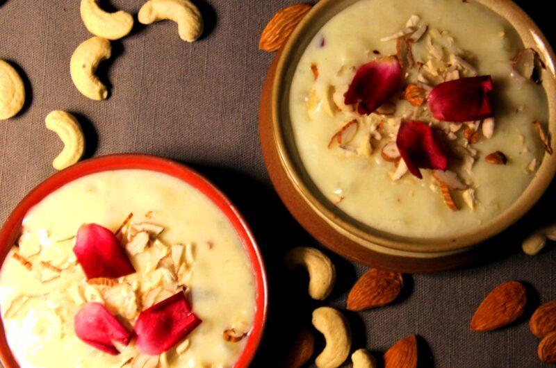 Gulab kheer | Indian Pudding | Prasad recipe