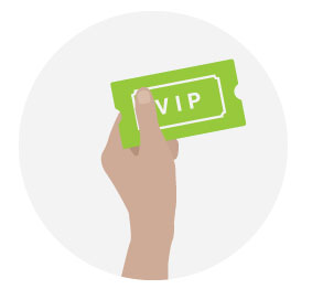 Hand Holding VIP Ticket - Illustration