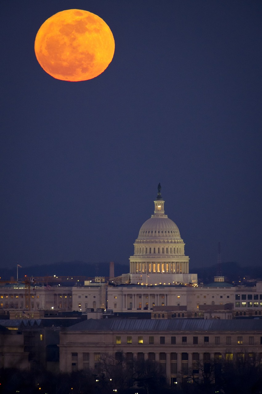 full moon, washington, dc