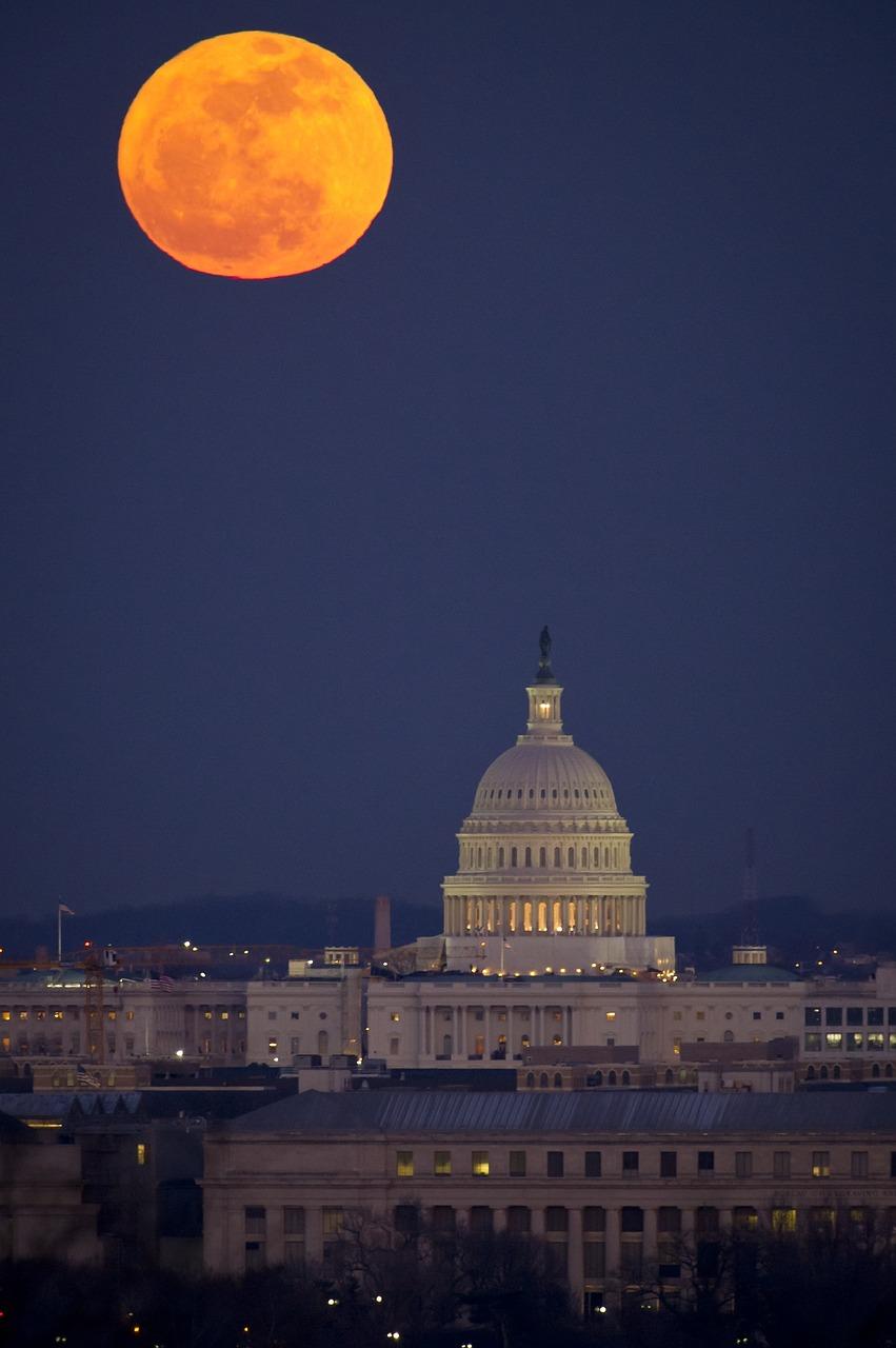 full moon, washington, dc
