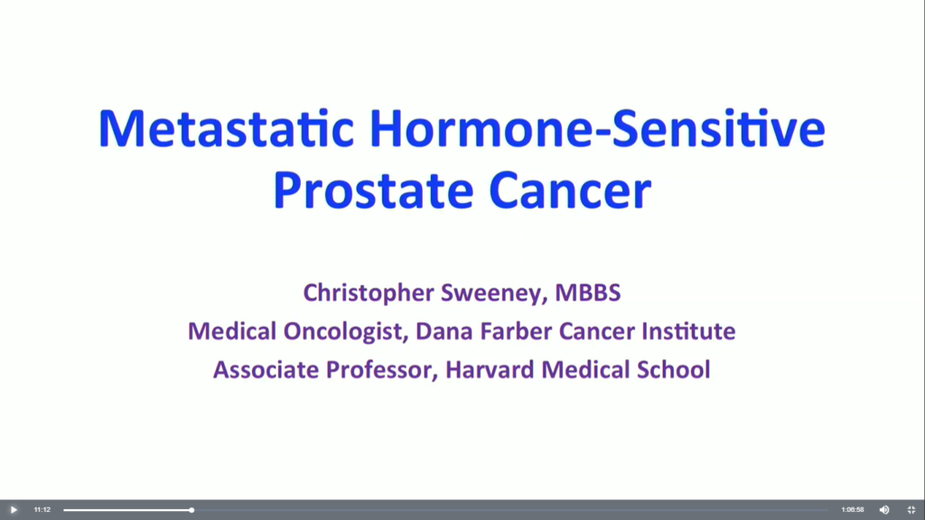 Advances in Hormone Sensitive Prostate Cancer Treatments with Dr. Chris Sweeney