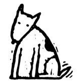 Dog sitting L-face