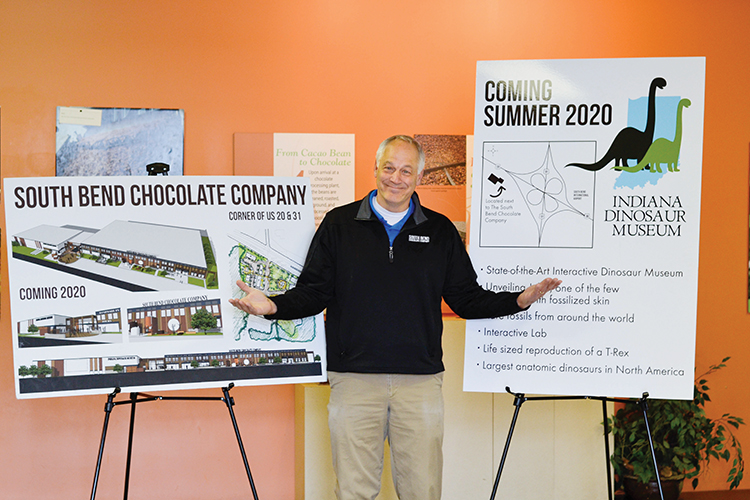 South Bend Chocolate Factory owner takes leap of faith to build dinosaur museum