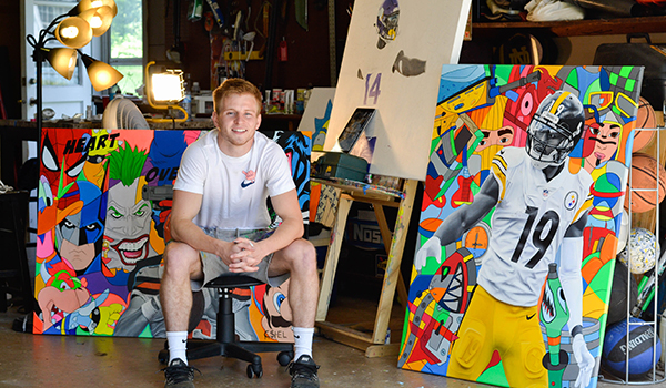 South Bend native combines personal interests in graphic art