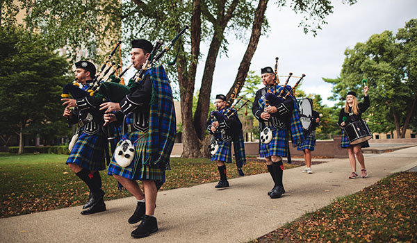 Notre Dame Bagpipe Band carries legacy, sound of the Fighting Irish