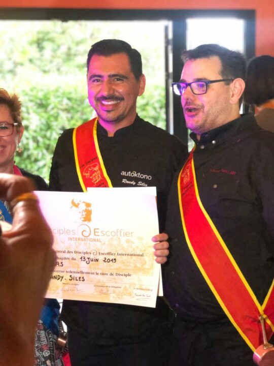 Chef Randy Siles Inducted Into The Disciples d'Escoffier International