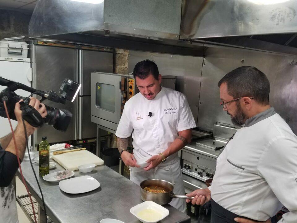 Randy Siles Cooks for the TV Program Cousas de Comer in Galicia