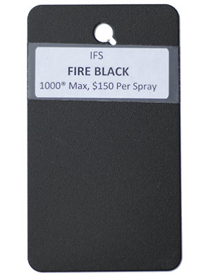 Fire Black Powder Coating