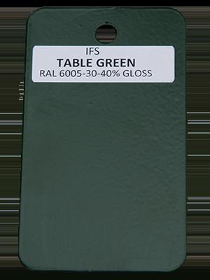 Table Green Powder Coating Utah