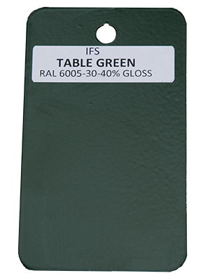Table Green Powder Coating