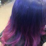 purple to pink color melt