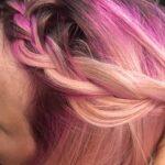 color melting some pink over platinum