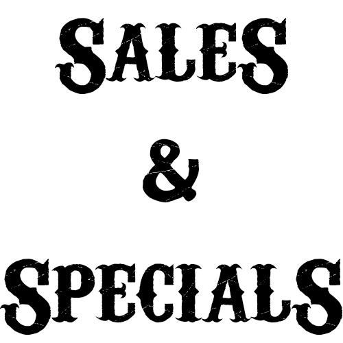 Sales and Specials
