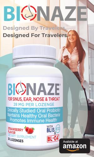 Bionaze Sidebar Ad Travel Probiotic.