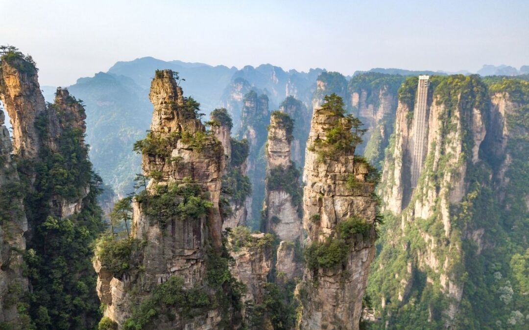Avatar mountains in china landscape view