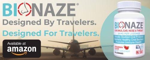 Bionaze ad - travel probiotic