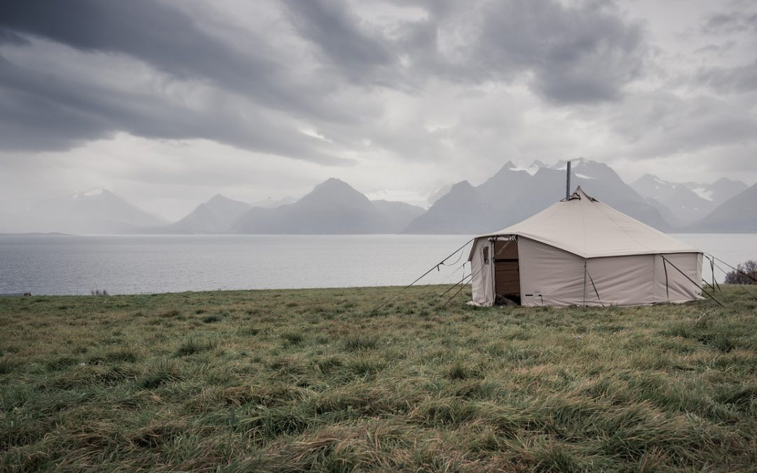 A tent where adventure lovers can live in full time.