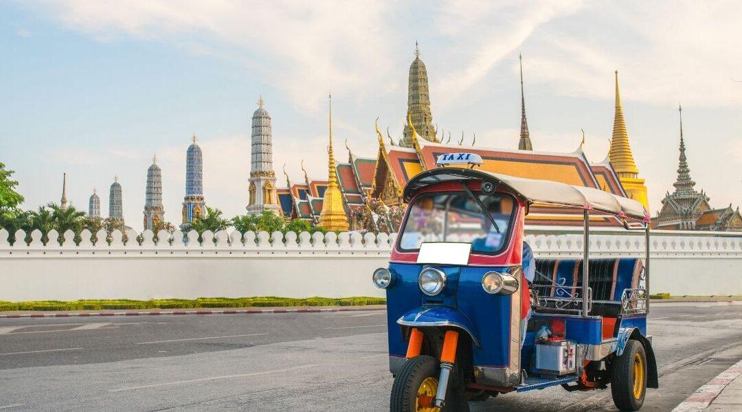 tuk-tuk ride in Bangkok