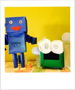tissue box robot and monster. kids activities