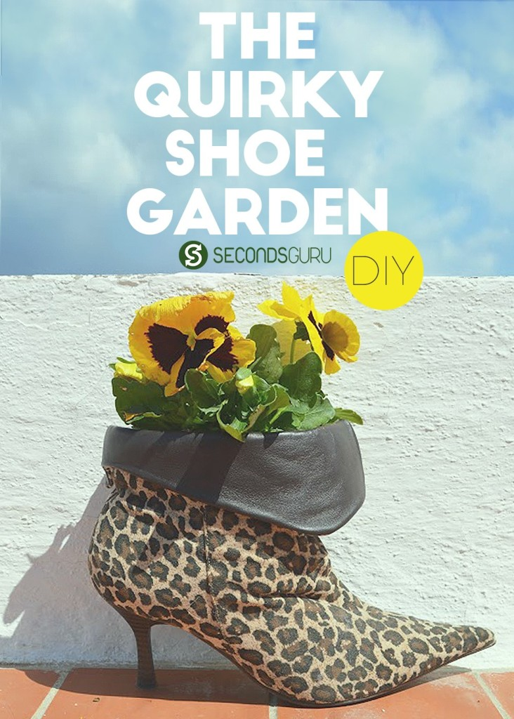 DIY | The Quirky Shoe Garden - These boots are made for walking and that's just what they'll do? With a little thought and creativity old shoes- sneakers, boots, wellies, stilettoes can be repurposed into a stylish flower planter for your garden or balcony! Check out this nifty idea here/ Read on for some creative inspiration