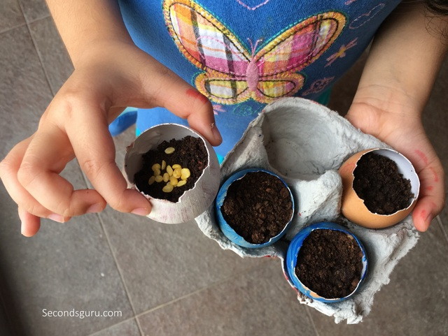 Upcycle eggshells into seed planters in a unique Easter DIY