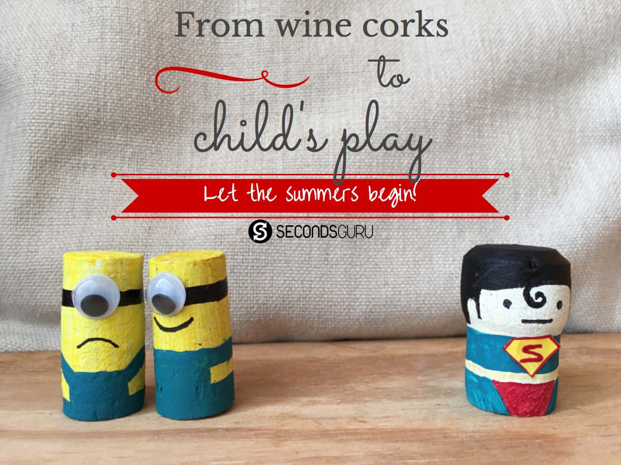 Turn wine corks into child's play this summer break! Create miniature minions and superheroes, rafts, and more in these craft activities