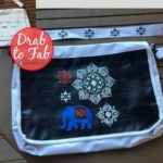 A merchandise bag crammed with logos becomes a snazzy sling tote with just some stencil and acrylic work! Waste less upcycle more with Secondsguru.com
